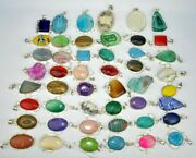 25pc To 500pc Druzycoral Onyx And Mix Stone 925 Sterlings Silver Overlay Pendants