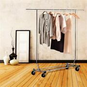 Garment Rack Clothing Rack Heavy Duty Adjustable Collapsible Rolling W/casters
