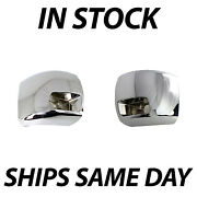 New Chrome Front Side Bumper Ends For 2007-2010 Chevy Silverado 2500/3500 W/ Fog