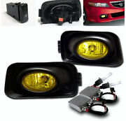 For 2004-2005 Acura Tsx 4dr Yellow Front Lower Bumper Fog Lights Lamp+50w 6k Hid