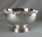 Large Sheffield Plate Punch Bowl Cooper Brothers And Sons C1950