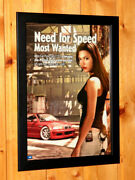Need For Speed Most Wanted Nfs Rare Small Poster / Ad Page Framed Ps3 Xbox 360