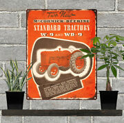 Mccormick Deering Tractor W9 W-9 Wd9 Wd-9 Man Cave Metal Sign Repro 9x12 60571
