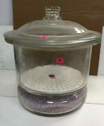 Desiccator W/ Coors Porcelain Plate And Absorbents Chemistry Lab Glassware
