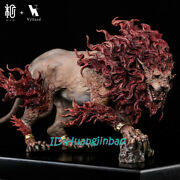 Mano Red Lion Resin Statue Model Painted Sculpture Gk Animal Figure Display Rare