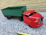 Vintage Wyandotte Marx Pressed Steel Side Dump Truck With Tin Grill Tin Toy Lot