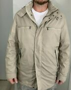 Paul And Shark Yachting Insulated Tan Beige Fishing Hooded Jacket Italy L 325