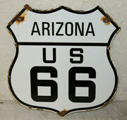Arizona Us Route 66 Vintage Style Porcelain Highway Signs Man Cave Station