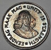 Colorful 1964 South Africa 2 1/2 Cent 1st Decimal Silver Unc Bu Toned Proof Dr