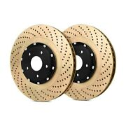For Audi Rs4 07-08 Stoptech Aerorotor Drilled 2-piece Front Brake Rotors