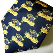 Vtg Mallard Duck Hunting Tie Made In Italy Pure Silk 1973 Collectable