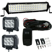12and039and039 Inch Led Light Bar +wiring Combo For Polaris Ranger Rzr 570 800 900 1000 Xp