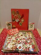 Vintage Antique Christmas Gummed Sticker Seals Stickers Stamps Gift Tags