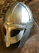 Viking Helmet For Re-enactors And Collectors Re-enactment Collectible Wulflund