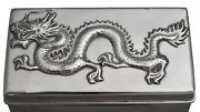 Chinese Sterling Silver Box And Cover Circa 1900 Hallmarked And Stamped Wh90