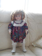 18.5 Duck House Porcelain Doll Collectable 1990's