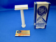 Merkur 72 Vtg 1950's Closed Comb Safety Razor Made In Germany Unused Near Mint