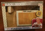 Rare 1987 Black And Decker Junior Play Toaster With Box And English Muffins Vtg Toy