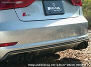 Remus Duplex Exhaust Audi S3 8v Soda Per 0 3/32x3 5/16in Round Bevelled From