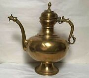 Unique Large Copper Pewter Spouted Flagon Or Ewer 19th Century