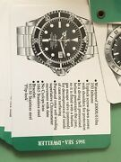 Genuine 1970andrsquos Rolex Vintage Ad Reference Training Cards 1655 1665 1680 5513