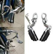 Chrome Short Angled Highway Foot Pegs 1-1/4 32mm For Harley Road King Special A