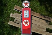 Texaco Gas Pump Embossed Tin Metal Sign - Motor Oil And Gasoline - Texas - Star