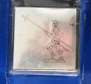 August Tin Toy Soldier Lead W Pike Raised Mold Number 19 In The Sereis
