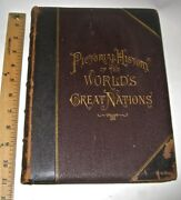 Leather Setpictorial History Of The World1882 Illustrated Plates Massive Folio