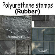 Polyurethane Rubber Stamps Printed Mold Plaster Stamping Floor Decor Form