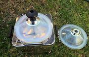 Old Vintage Fry Opalescent Pearl Glass Rare Popcorn Maker Popper + Extra Lid