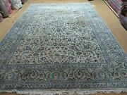 7and039 5 X 10and039 6 Hand Made Indian Wool Rug Decorative Ivory Beige Floral