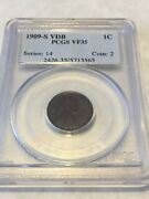 1909-s Vdb Pcgs Vf35 1c Lincoln Cent Wheat Ears Penny