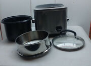 Cuisinart 8 Cup Electric Rice Cooker And Food Vegetable Steamer Lid Non-stick