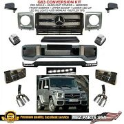 G63 Conversion Amg Body Kit Bumper Flares Led Lip G550 G550 Grille Upgrade New