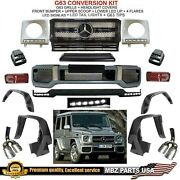 G63 Conversion Amg Body Kit Bumper Flares Led Lip G550 G550 Grille Tail Lights