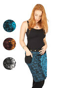 New Mid Length Hippie Wrap Skirt Mandala With Attached Purse