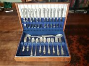 Reed And Barton Sterling Silver Georgian Rose Flatware Service For 12 78 Piecesandnbspandnbsp