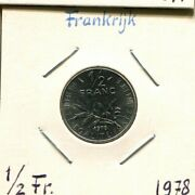 1/2 Franc 1978 France French Coin Am250uw