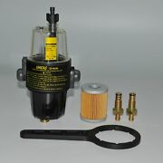 Marine Water Separator Fuel Filter For Yacht Diesel Gasoline All Outboard Tank