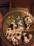 4 Disneyand039s 101 Dalmatians Limited Edition Collectible 3d Plates Nib W Stands
