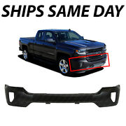 New Primered Steel - Front Bumper Face Bar For 2016-2018 Chevy Silverado W/ Fog
