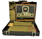 Wwii 1942 Radio Vintage Us Army Signal Corps Test Set 1-56-e With Headphones