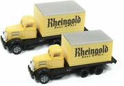 Classic Metal Works N Scale - White Wc 22 Box Truck 2 - Rhiengold Beer - 50373