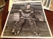Johnny Mowers 1940 Detroit Red Wings Nhl Hockey Photo Tigers Lions Pistons