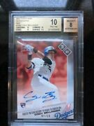 2017 Topps Now Red Auto /10 194cody Bellinger Bgs 10 Pristine Dodgers Roy Stud