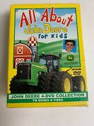 All About John Deere For Kids 4-dvd Collection. Two 2 Sealed And Never Ope