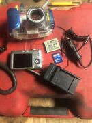 Canon Powershot Sd600 And Wp-dc4 Underwater Camera Housing W/ Bag Charger Battery
