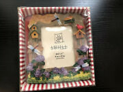 Gift Collection Polyresin Photo Frame Dragonfly Birdhouse 3.5 X 5 New