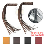 Motorcycle Handlebars Leather Cover Fringe Universal For 22mm 25mm Handle Bar